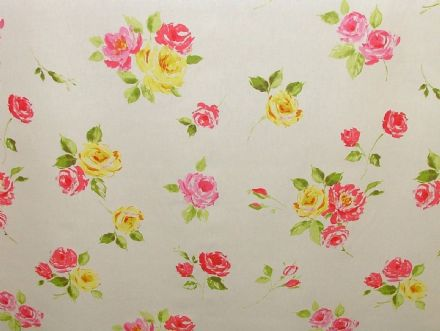 "Prestigious Textiles ""Ella"" Chintz Floral Cotton Curtain/Soft Furnishing Fabric"